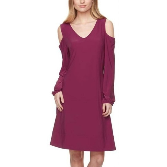 Nina Leonard Dresses & Skirts - Nina Leonard NWT Cold Shoulder Swing Dress